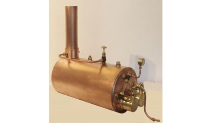 5 inch Horizontal Boiler Complete