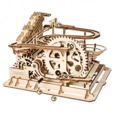 Wooden Marble Run - Marble Parkour/Waterwheel Coaster