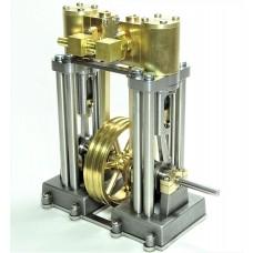 Vertical Marine Twin Cylinder Engine Kit - LONG VERSION